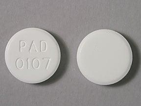 Imprint PAD 0107 - clotrimazole 10 mg