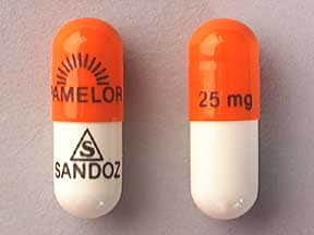 Image 1 - Imprint logo PAMELOR 25 mg logo SANDOZ - Pamelor 25 mg