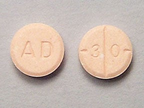 Imprint AD 30 - Adderall 30 mg