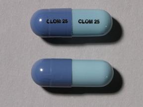 Imprint CLOM 25 CLOM 25 - clomipramine 25 mg