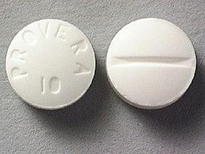 Imprint PROVERA 10 - Provera 10 mg