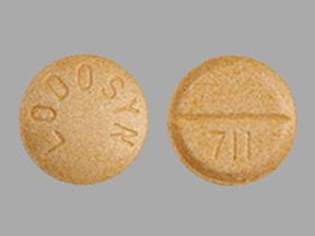 Imprint LODOSYN 711 - carbidopa 25 mg
