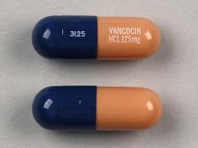 Imprint 3125 VANCOCIN HCL 125mg - Vancocin 125 mg