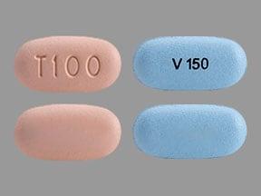 Imprint T100 - Trikafta elexacaftor 100 mg / ivacaftor 75 mg / tezacaftor 50 mg