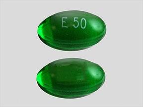 Imprint E 50 - ergocalciferol 1.25 mg (50,000 IU vitamin D)