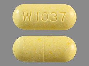 Imprint W 1037 - methenamine 1 gram