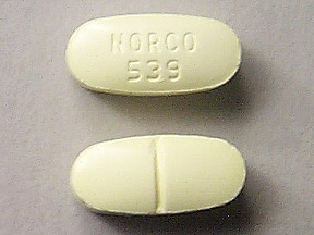 Imprint NORCO 539 - Norco 325 mg / 10 mg