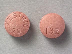 Image 1 - Imprint ZESTRIL 20 132 - Zestril 20 mg