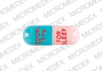 Imprint RESTORIL 7.5 mg FOR SLEEP - Restoril 7.5 mg