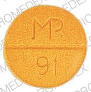 Image 1 - Imprint MP 91 - sulfasalazine 500 mg
