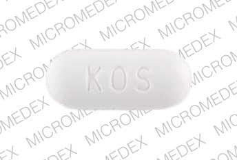 Imprint KOS 500 - niacin 500 mg