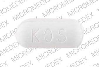 Imprint KOS 1000 - niacin 1000 mg