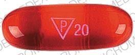 Imprint P 20 - docusate 250 mg