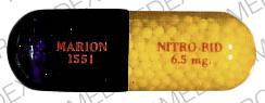 Imprint MARION 1551 NITRO-BID 6.5 mg - Nitro-Bid 6.5 MG