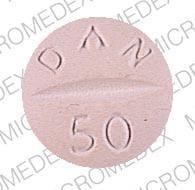 Imprint 5610 DAN 50 - hydrochlorothiazide/methyldopa 50 mg / 500 mg