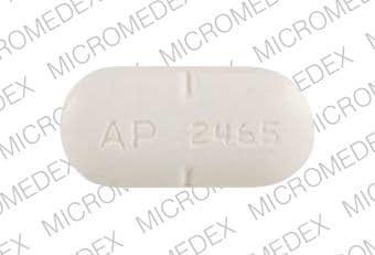 Imprint AP 2465 - nadolol 160 mg
