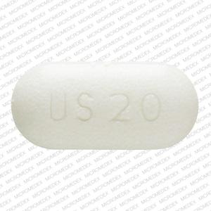 Imprint US 20 - potassium chloride 20 mEq (1500 mg)