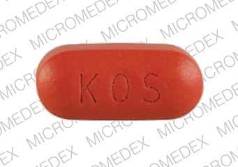 Imprint KOS 1004 - Advicor 40 mg / 1000 mg