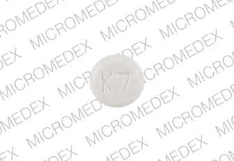 Imprint K7 - clonazepam 0.5 mg