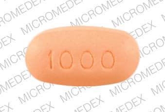 Imprint KOS 1000 - Niaspan 1000 mg