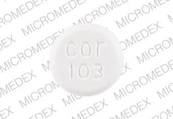 Imprint cor 103 - carisoprodol 350 mg