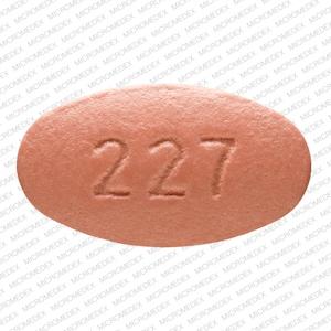 Imprint 227 - Isentress 400 mg