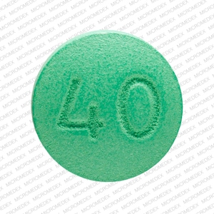 Imprint TAP 40 - Uloric 40 mg