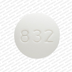 Imprint BAC 10 832 - baclofen 10 mg