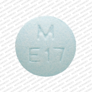 Imprint M E17 - enalapril 10 mg