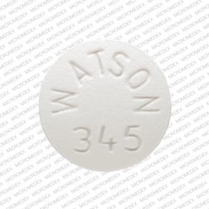 Image 1 - Imprint WATSON 345 - verapamil 120 mg