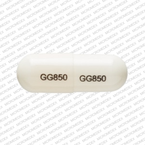 Imprint GG 850 GG 850 - ampicillin 250 mg