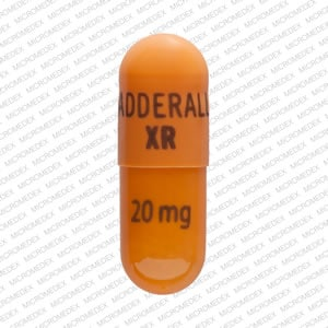 Imprint ADDERALL XR 20 mg - Adderall XR 20 mg