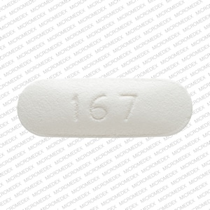 Imprint 167 - metoprolol 100 mg