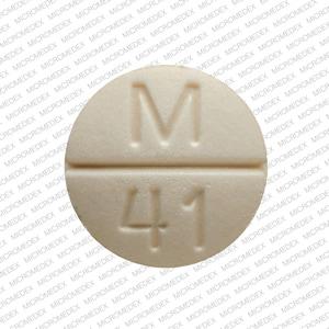 Imprint M 41 - hydrochlorothiazide/spironolactone 25 mg / 25 mg