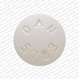 Imprint DAN 5783 - atenolol/chlorthalidone 100 mg / 25 mg