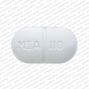 Image 2 - Imprint MIA 110 - acetaminophen/butalbital/caffeine 325 mg / 50 mg / 40 mg