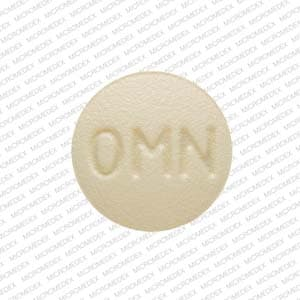 Imprint OMN 25 - Topamax 25 mg