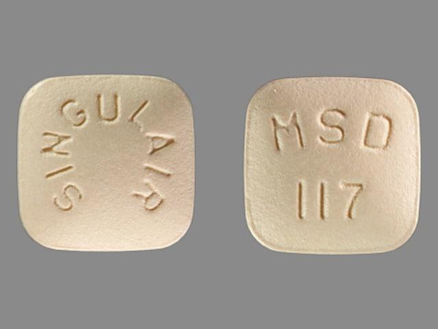 Imprint SINGULAIR MSD 117 - Singulair 10 mg