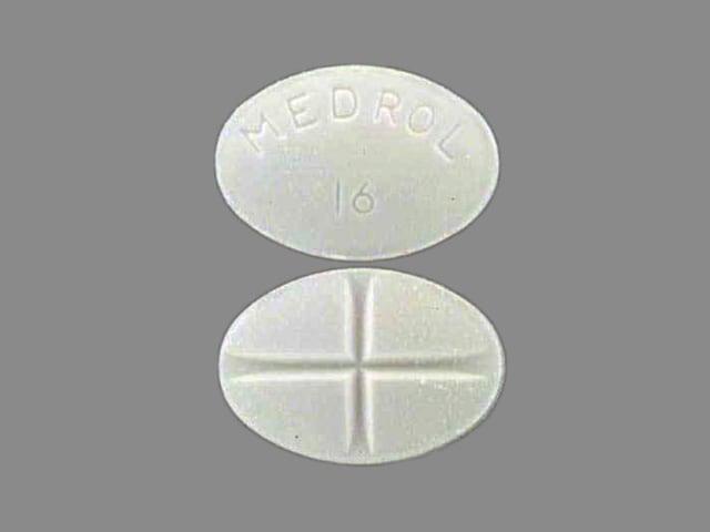 Imprint MEDROL 16 - Medrol 16 mg