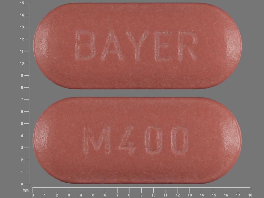 Image 1 - Imprint BAYER M400 - Avelox 400 mg