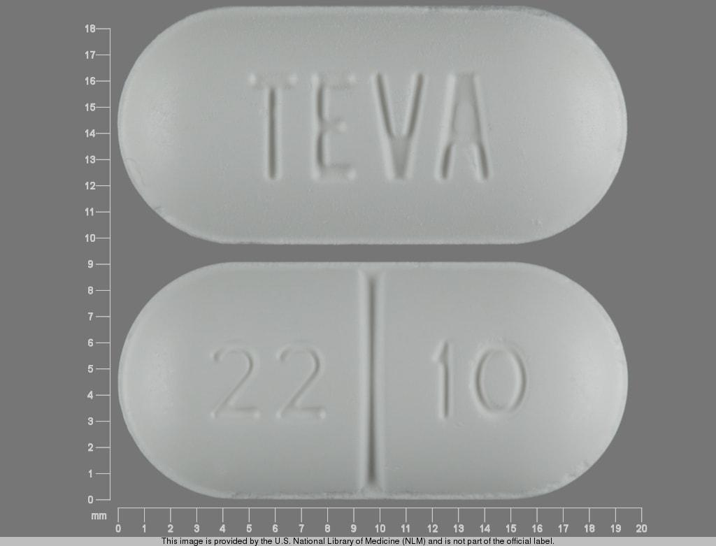 Imprint TEVA 22 10 - sucralfate 1 g