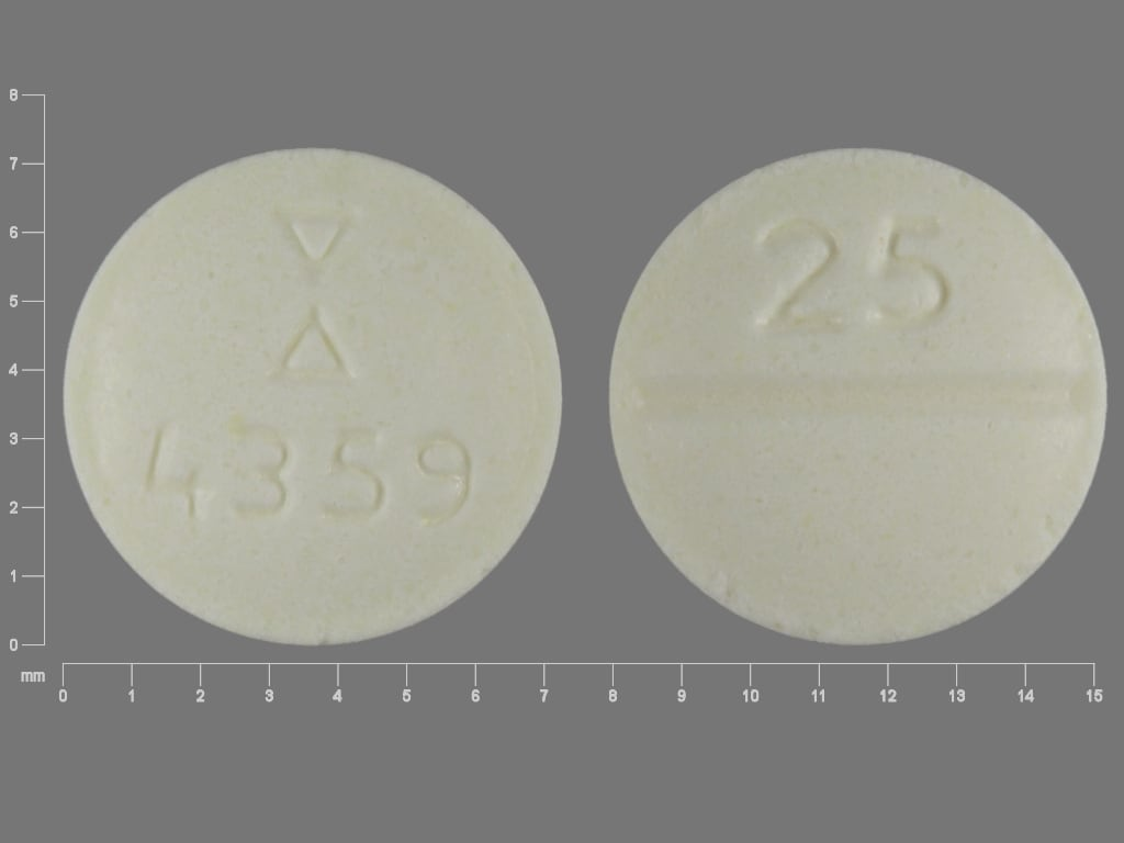Imprint Logo 4359 25 - clozapine 25 mg
