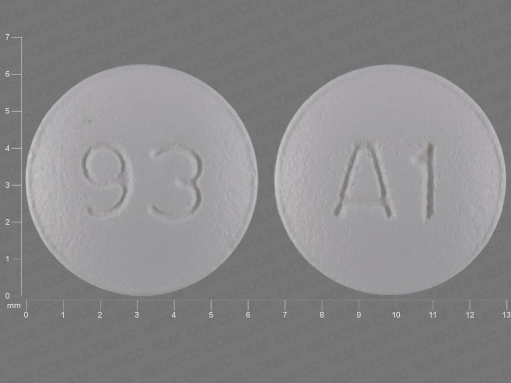 Imprint 93 A1 - almotriptan 6.25 mg (base)