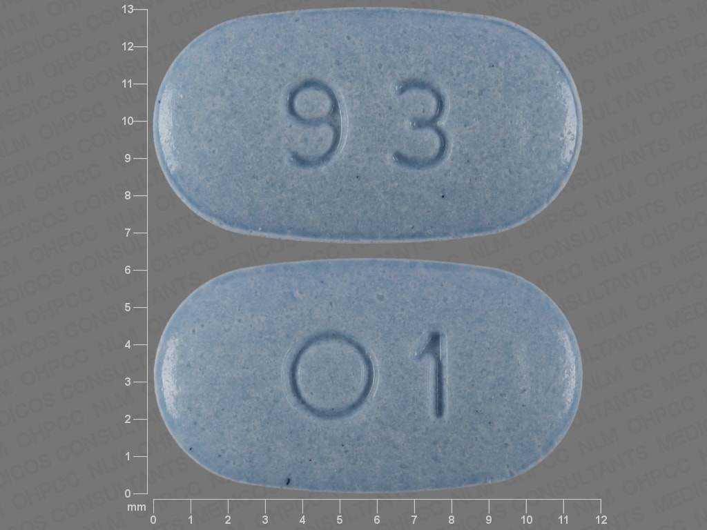 Imprint 93 O1 - oxymorphone 5 mg