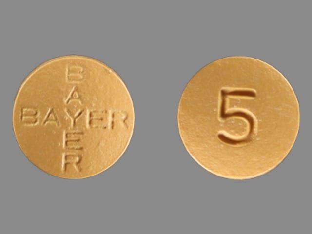 Imprint BAYER BAYER 5 - Levitra 5 mg