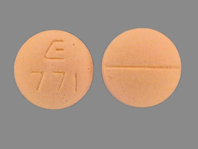 Imprint E 771 - bisoprolol 5 mg