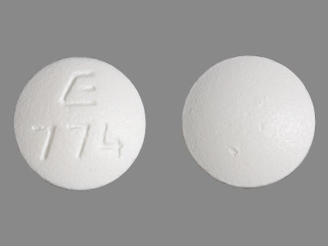 Imprint E 774 - bisoprolol 10 mg