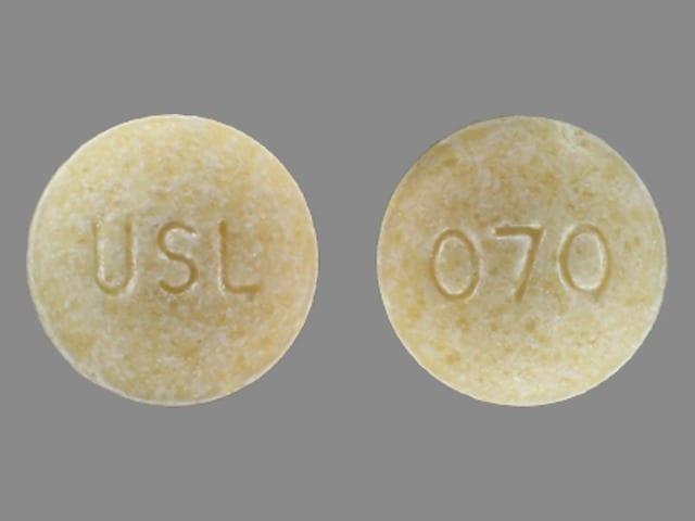 Imprint USL 070 - potassium citrate 5 mEq (540 mg)