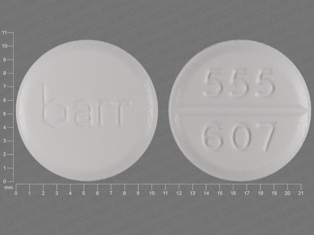 Imprint barr 555 607 - megestrol 40 mg