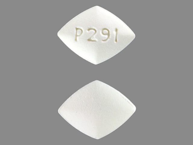 Imprint P291 - amiloride 5 mg